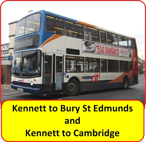 Bury to Cambridge Bus