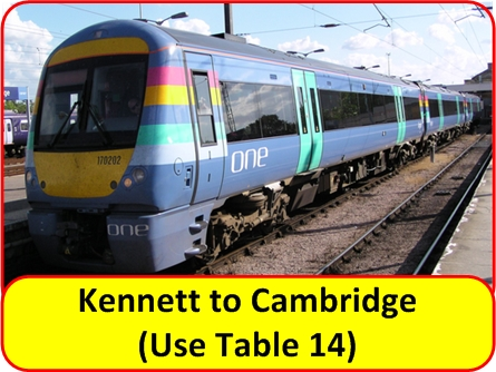 Kennett to Cambridge Train